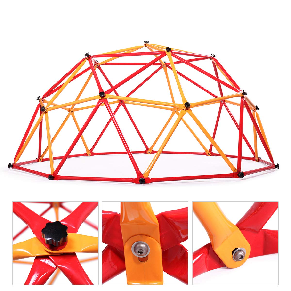 JAXPETY Outdoor Dome Climber Playground Children Kid Swing Set Climbing Frame Backyard Gym by JAXPETY (Image #1)