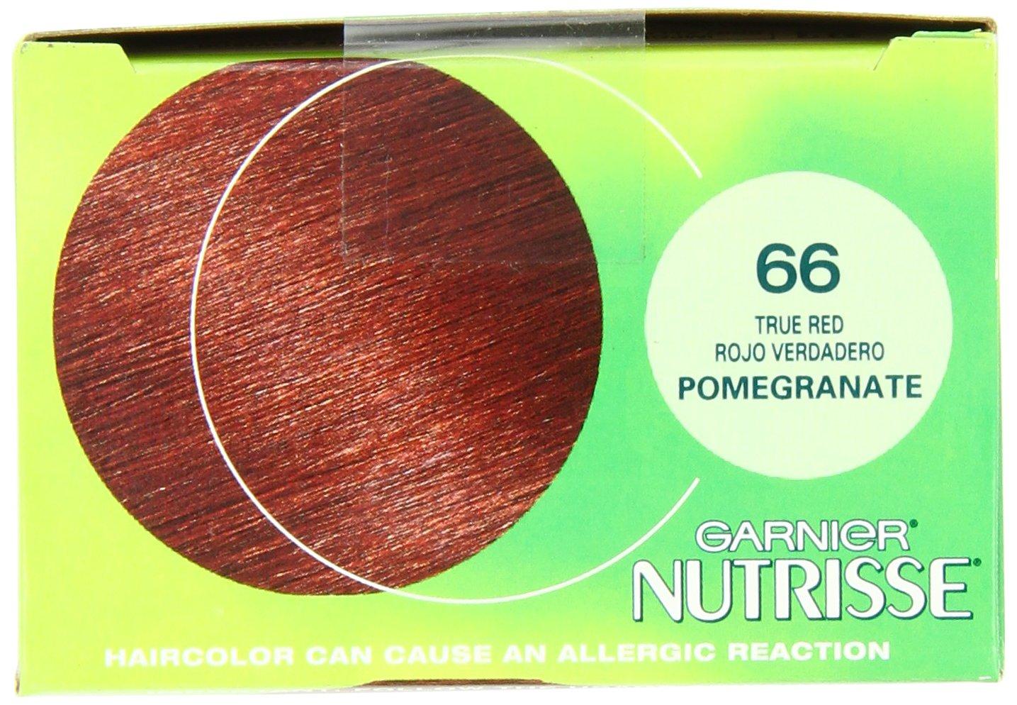 Amazon.com : Garnier Nutrisse Permanent Haircolor, 66 True Red ...
