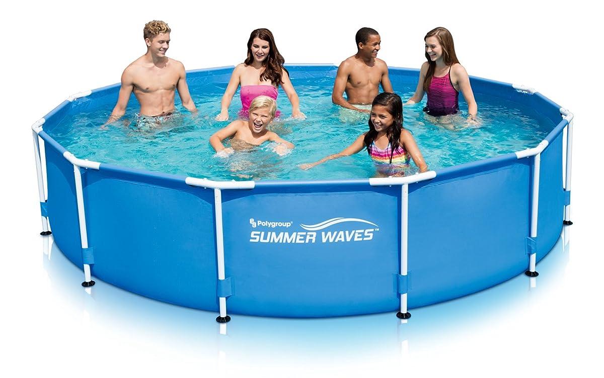 "Summer Waves 12x30"" Metal Frame Pool with Skimmer Plus Filter System"