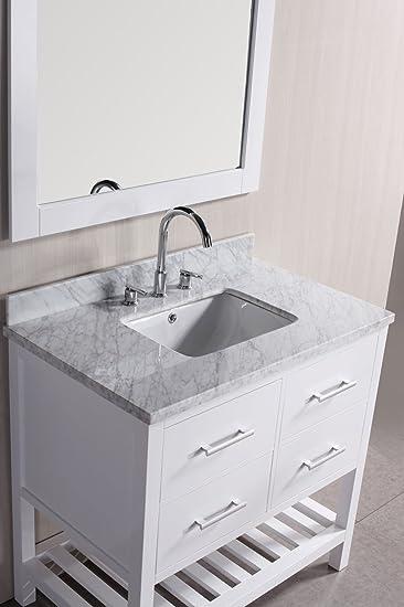 Nice Belvedere Designs T9223 Bathroom Vanity With Marble Top, 30u0026quot;, ...