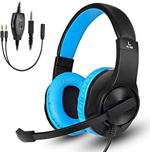 Gaming Headset for Xbox One, PS4, Nintendo Switch, DIWUER Bass Surround and Noise Cancelling 3.5mm Over Ear Headphones with Mic for Laptop PC Smartphones