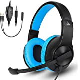 Gaming Headset for Xbox One, PS4, Nintendo Switch, DIWUER Bass Surround and Noise Cancelling 3.5mm Over Ear Headphones…