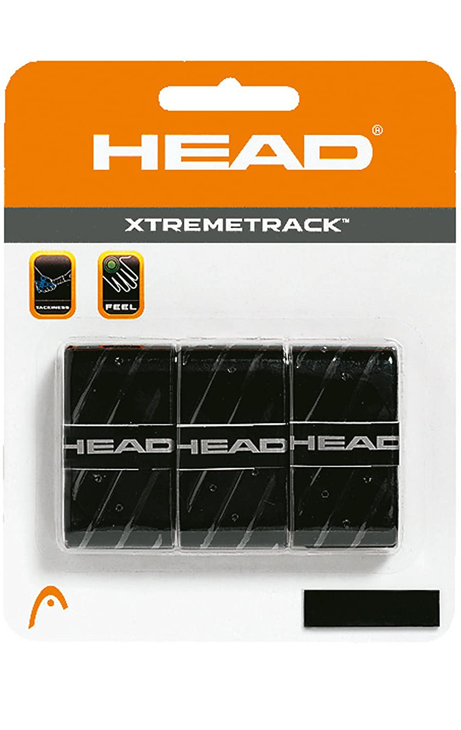 Head Xtreme Track Overwrap - Overgrip, color negro 285124BK