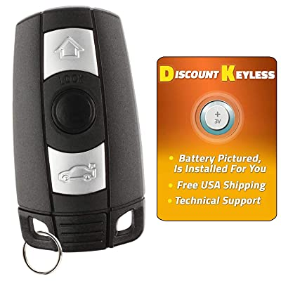 Discount Keyless Replacement Uncut Smart Remote Fob Key Compatible with KR55WK49127, KR55WK49123: Automotive