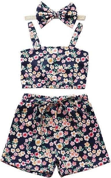 Amazon Com Conjunto De Ropa De Pascua Para Ninas Pequenas Con Tirantes Chaleco Pantalones Cortos Diadema Para Ninos De 2 A 8 Anos Clothing