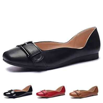 17a616175f56c CINAK Flats Women's Shoes-Casual Square-Toe Slip on Comfortable Ballet  Loafers