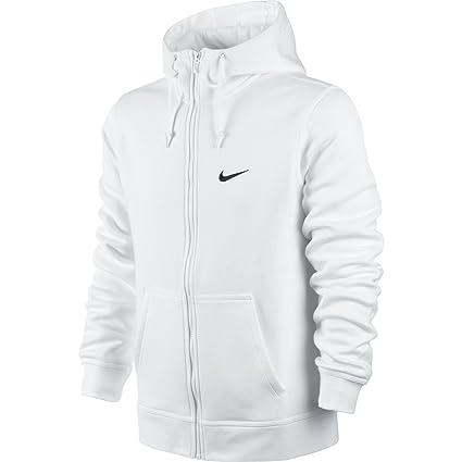 vendita calda online 23c9d 25268 Nike, Giacca con Cappuccio Uomo Sweat Club, Uomo, Bianco ...