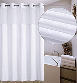 Conbo Mio Hookless Shower Curtain With Snap In Liner For Bathroom Waterproof Anti Mildew Bacterial Resistant
