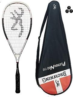 Browning Platinum Nano 110 Raquette de Squash 3 balles de Squash Dunlop