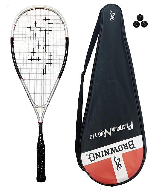 Browning Platinum Nano 110 raqueta de Squash + 3 pelotas de Squash ...