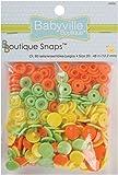 Babyville Boutique Snaps, Green/Yellow/Orange, 60 Count