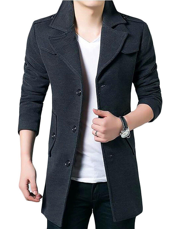 Avenues Cooler Mens Fur Hood Down Padded Coat Collar Jacket Thick Winter Coat