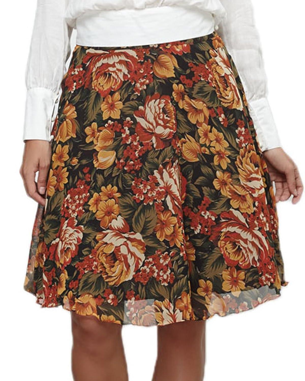 Vintage Blumen Rock für Boho Frauen von eDange the label (142SKI03)
