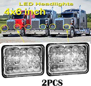 """Complete 4/"""" x 6/"""" 4 Lamp LED High//Low Integrated System Replaces H4656 /& H4651"""