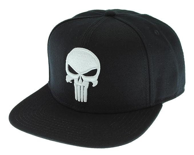 10ba39635 Amazon.com: Punisher Logo Snap Back Hat Standard Black: Clothing