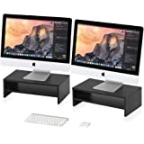 FITUEYES 2 Tier Monitor Riser Stand fit Dual PC/Laptop/Printer/TV Screen Desktop Organizer with Storgae Shelf, 2 Pack…