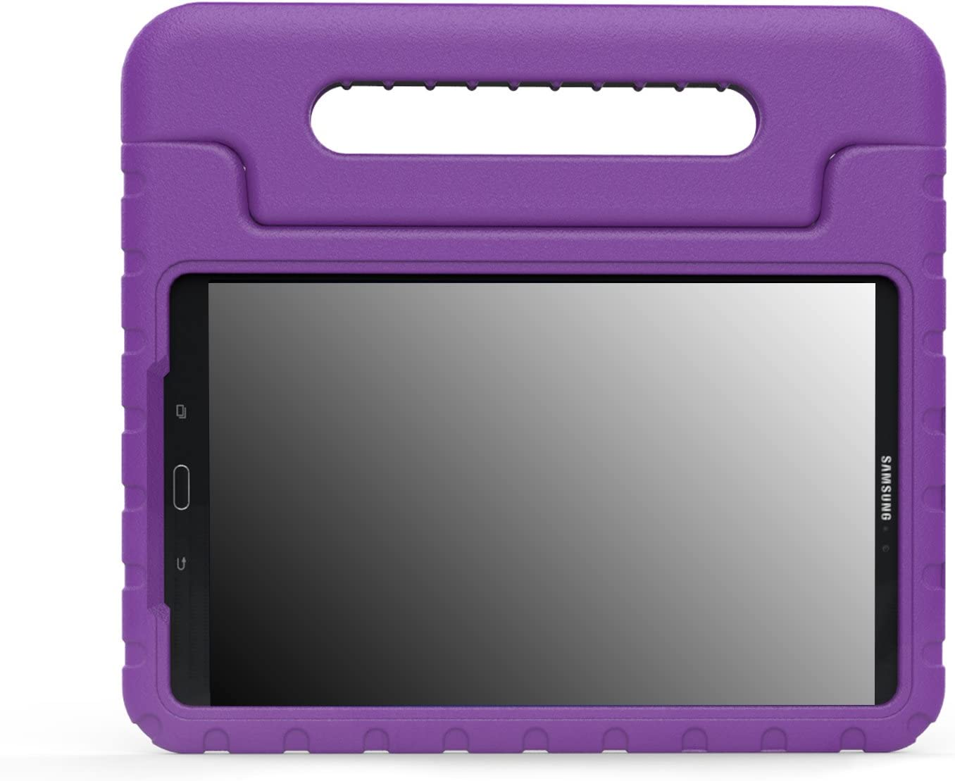 "MoKo Samsung Galaxy Tab A 10.1 Case - Kids Shock Proof Convertible Handle Light Weight Super Protective Stand Cover for Samsung Galaxy Tab A 10.1"" 2016 Tablet (SM-T580/SM-T585, No Pen Version), PURPLE"
