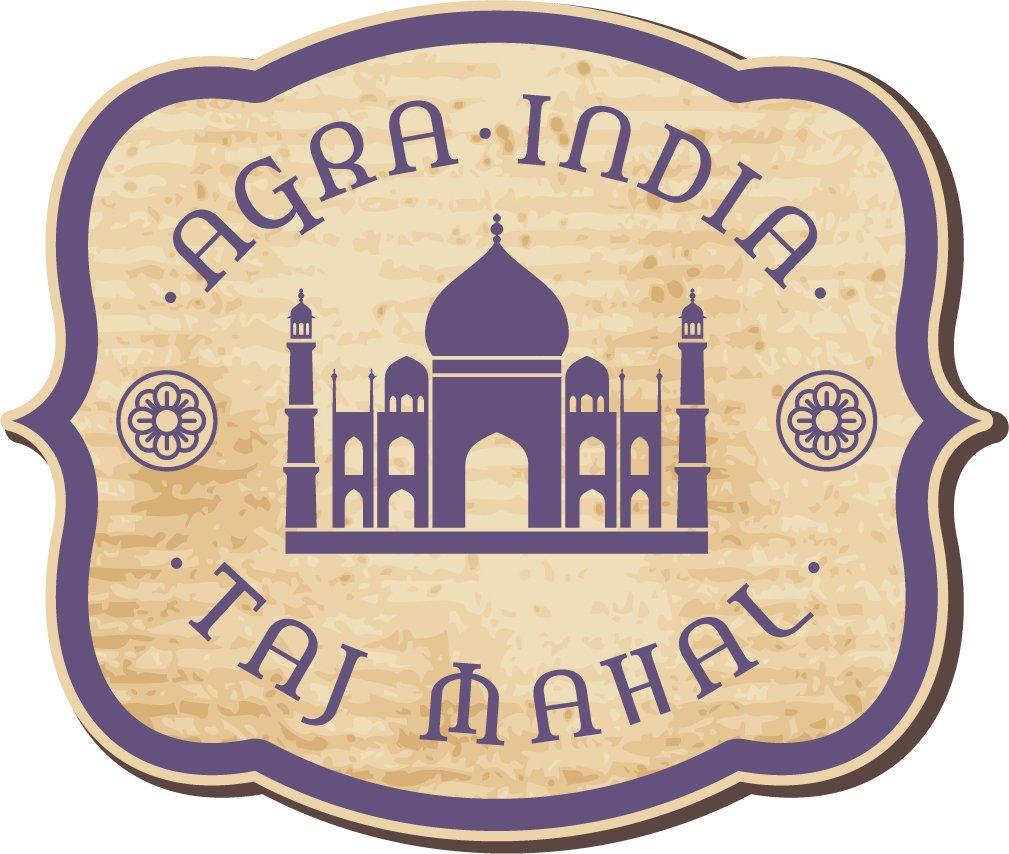 Taj Mahal India Vintage Label Home Decal Vinyl Sticker 14'' X 12''