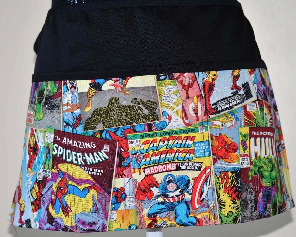 Marvel characters waist aprons iron man apron the hulk aprons captain america waist aprons 3 pockets