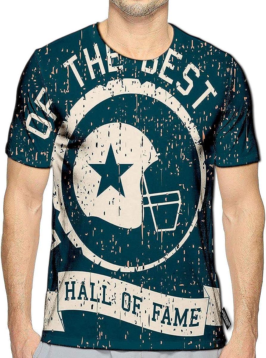 3D Printed T Shirts American Football Helmet Best of The Best Vintage Casual Mens Hipster Top Tees