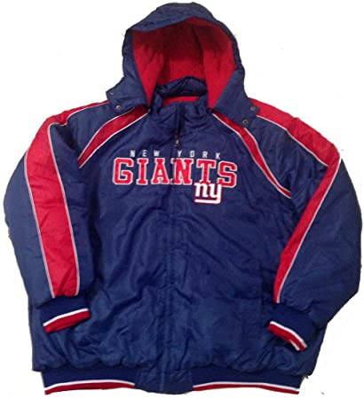 new products 41772 d476a Amazon.com : New York Giants Jacket Polyfill Hooded Nfl Coat ...