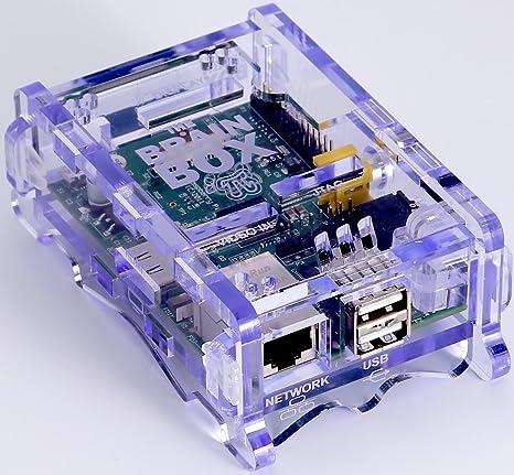 10 CASES 10x Blue  case for Raspbery pi case open