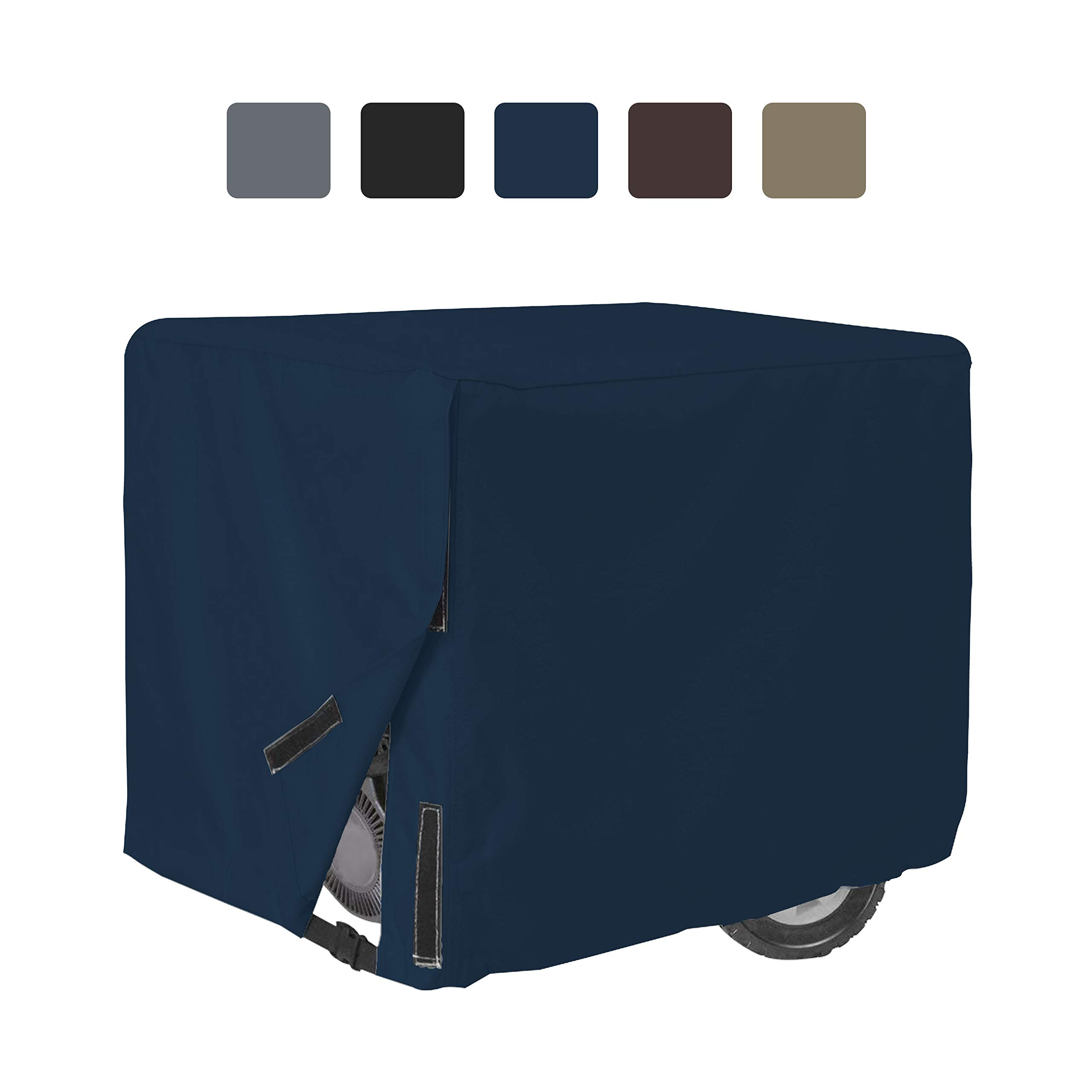 Outdoor Generator Covers 12 Oz Waterproof - 100% UV & Weather Resistant PVC Coated Generator Cover with Air Pockets and Drawstring for Sungfit (38'' X 28'' X 30'', Blue)