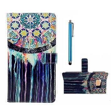 Para Samsung Galaxy J5 (2015) SM-J500F PU Cuero Billetera Funda Flip Carcasa,pintura de la cáscara colorido diseño de la carpeta con TPU suave ...
