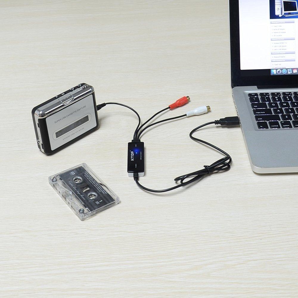 USB2.0 Audio Capture Card Usb Audio Grabber-cassette,Supported OS,Windows 10/8.1/8/7/Vista/XP,Mac OS 10.11 -Easy Audio Grabber Version by Somaer (Image #5)