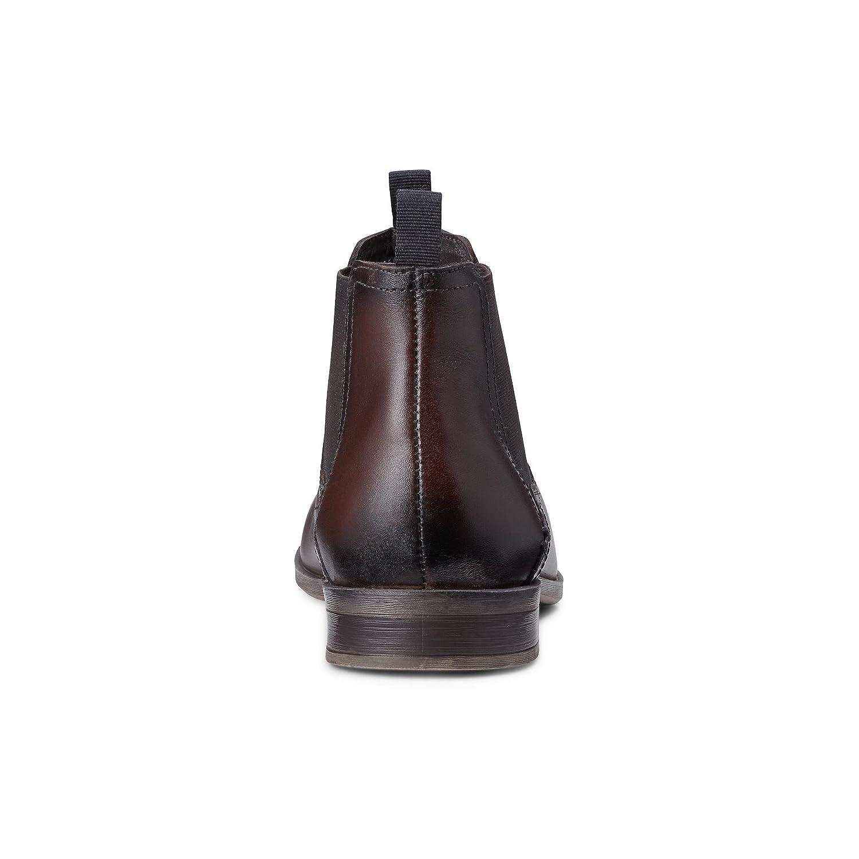 Cox Braun Herren Chelsea Boots aus Leder, lässige Stiefel in Braun Cox mit Rutschfester Sohle Braun-dunkel ba5545