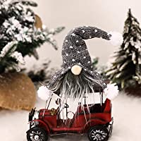 Handmade Swedish Santa Gnome Plush, Santa Scandinavian Gnome Plush Doll Birthday Present for Holiday Home Ornaments Christmas Santa Xmas Decoration Table Decor
