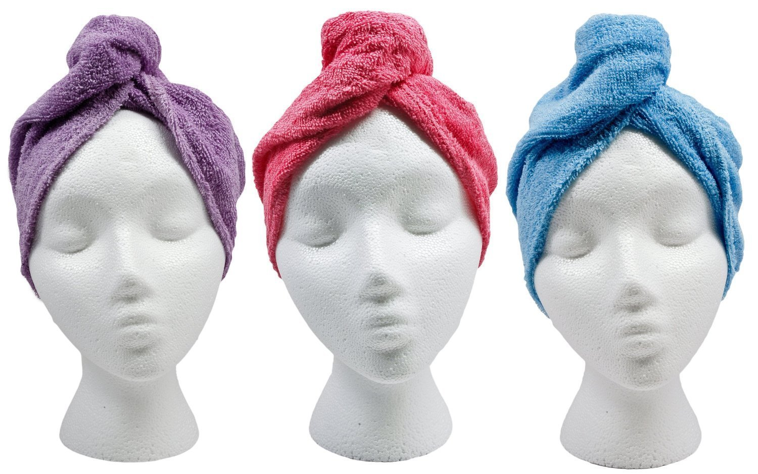 Microfiber Twist and Dry Hair Turban Wrap - Varied Colors