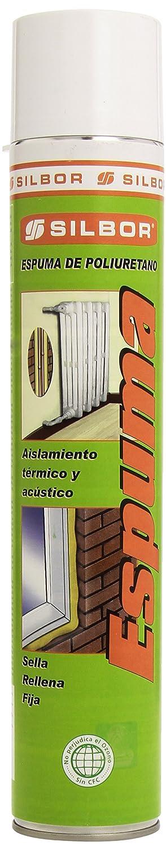 Mundigangas - Espuma spray 750ml Poliuretano Silbor con canu: Amazon.es: Bricolaje y herramientas