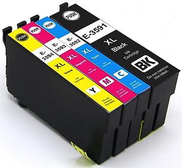 4 x Cartuchos de impresora compatible para Epson 35 x l ...