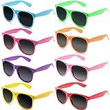 FSMILING Großhandel 80er Jahre Neon farbige Vintage Klassisch Party Sonnenbrille für Herren Damen Kinder (10 Stück Schildkrötenschale )