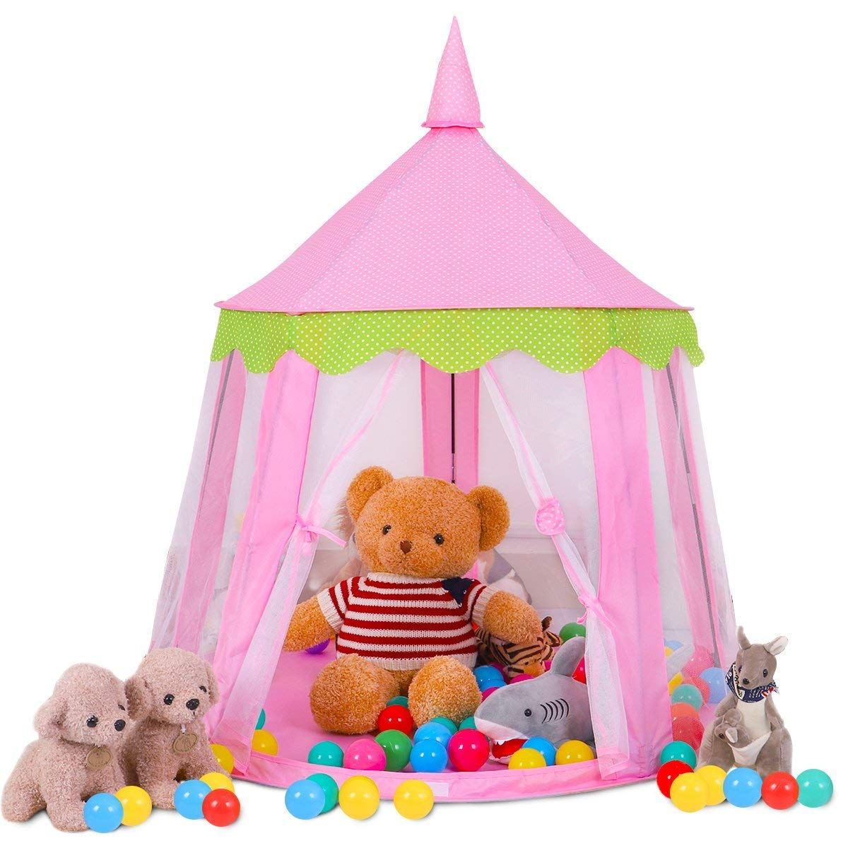 (Pink) - Buringer Large Indoor And Outdoor Kids Play House Princess Castle Kids Play Tent For Baby - Pink  ピンク B078W449RL, 鮮一 a3b44383