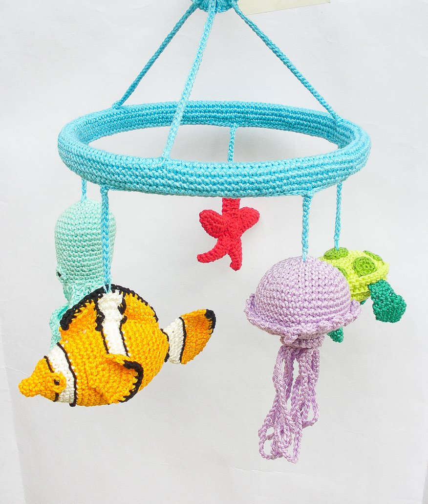 Amazon.com: Under The Sea Mobile, Nautical Nursery, Fish Mobile, Sea Nursery Decor, Baby Mobile, Baby Shower, Newborn Gift, Crib Mobile, Sea Theme: Handmade