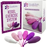 Intimate Rose Kegel Exercise Weights - Doctor Recommended Pelvic Floor Exercises - Set of 6 Premium Silicone Kegel Balls…