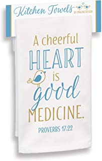 "product image for Imagine Design Cheerful Heart is Good Medicine Towel, 18"" x 28"", Multi"