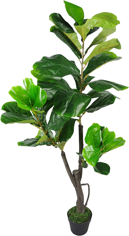 Maceta de pl/ástico 90 cm Leaf Design UK Color Negro