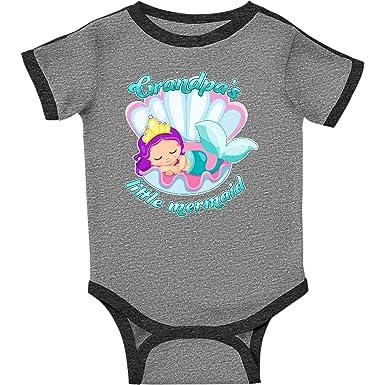ea1130a26efcb Amazon.com: inktastic - Grandpa's Little Mermaid Infant Creeper 2efcf:  Clothing