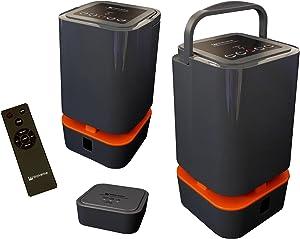 Indoor and Outdoor Twin 5.8GHz Wireless Speakers