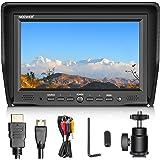Neewer 7 pouces Moniteur sur Caméra avec Entrée VGA/AV/ HDMI Ecran IPS 800: 1 Contraste 800x480 Haute Résolution pour Canon Nikon Sony Olympus Pentax Appareil Photo et Caméscope DSLR (NW708-M) (Batterie Non Incluse)