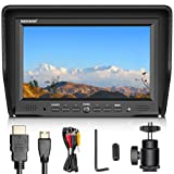 Neewer NW708-M 7 inches Field Monitor with VGA/AV/HDMI Input IPS Screen 800:1 Contrast 800x480 High Resolution for Canon Nikon Sony Olympus Panasonic DSLR Cameras and Camcorders(Battery not included)
