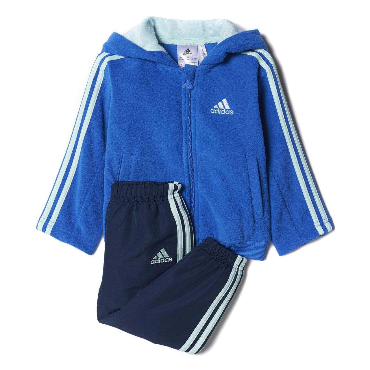 adidas Klein Kinder Trainingsanzug Winter Fun Jogger blau