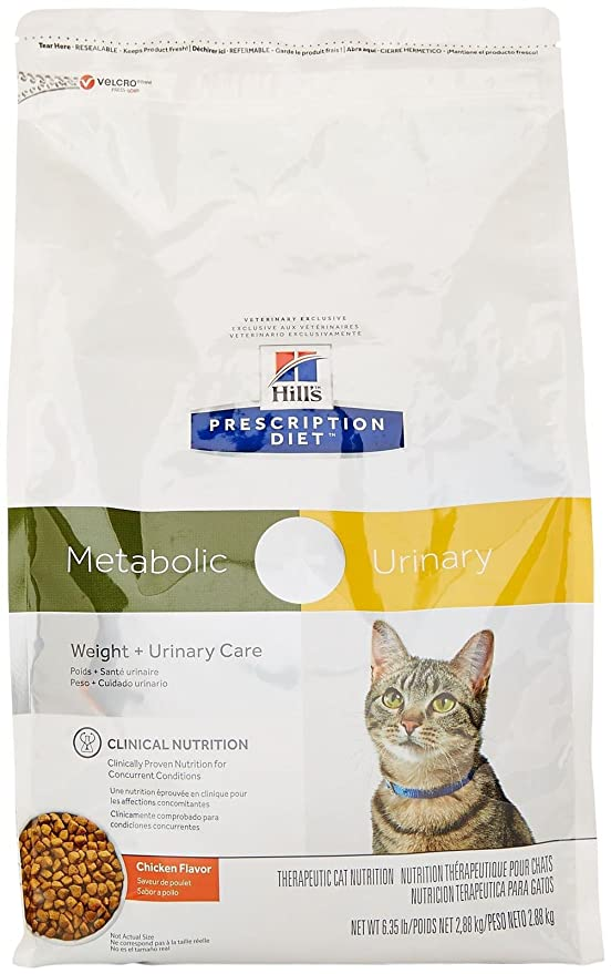 Amazon.com : Hills Prescription Diet Metabolic + Urinary Feline - Chicken Flavor - 6.35Lbs : Pet Supplies