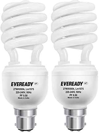 Eveready ELS 27 Watt CFL White And Pack Of 2