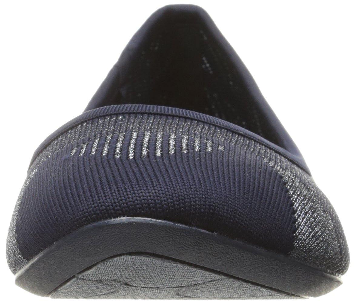 Skechers Navy/Silver Damen Cleo-Razz Dazz Geschlossene Ballerinas Navy/Silver Skechers 462f61