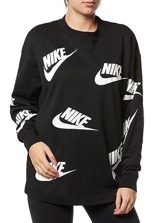 Nike Pulli Damen Pullover Crewneck O Neck Aa3142 Schwarz Black Women