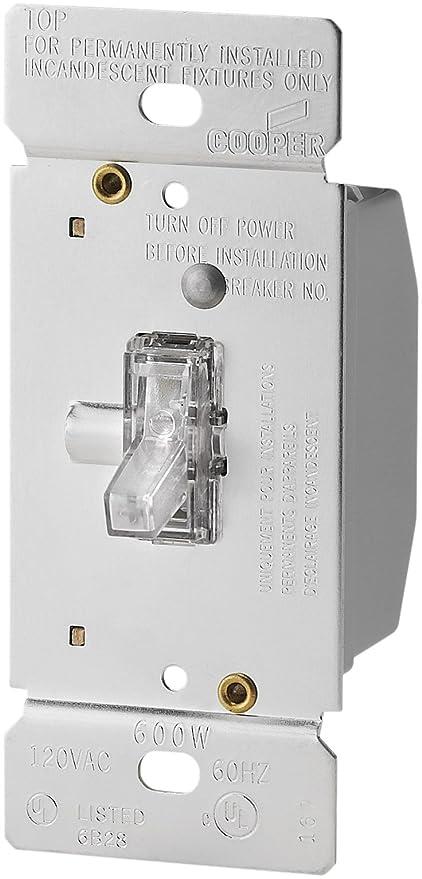 Eaton TI306LK 600Watt 120Volt SinglePole3way Lighted